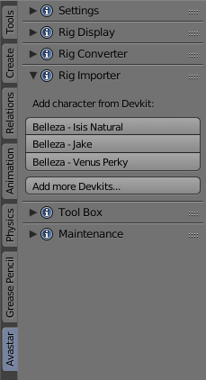 Manage Developer kits | Avastar 2
